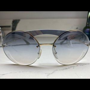 Prada Round Gradient Sunglasses. NWT